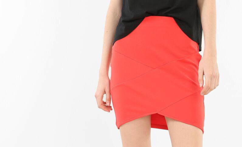 Mini jupe bodycon rouge