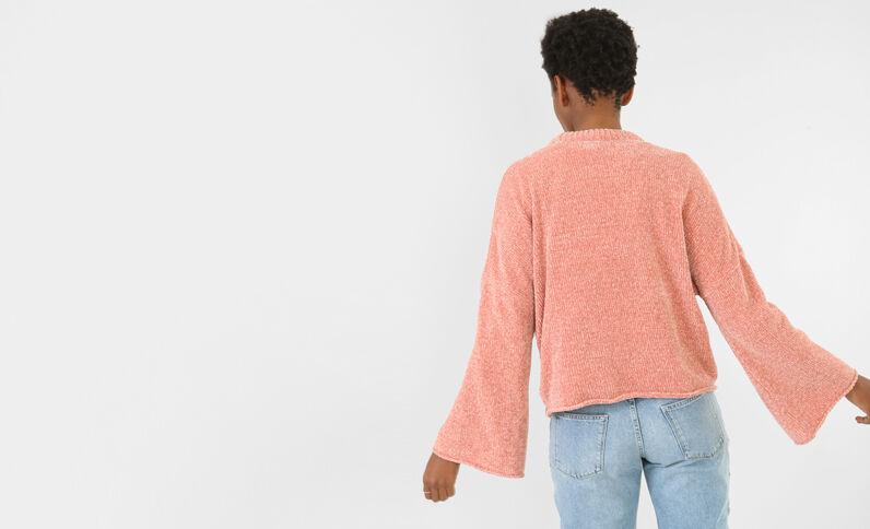 Pullover mit ausgestellten Ärmeln Rosa