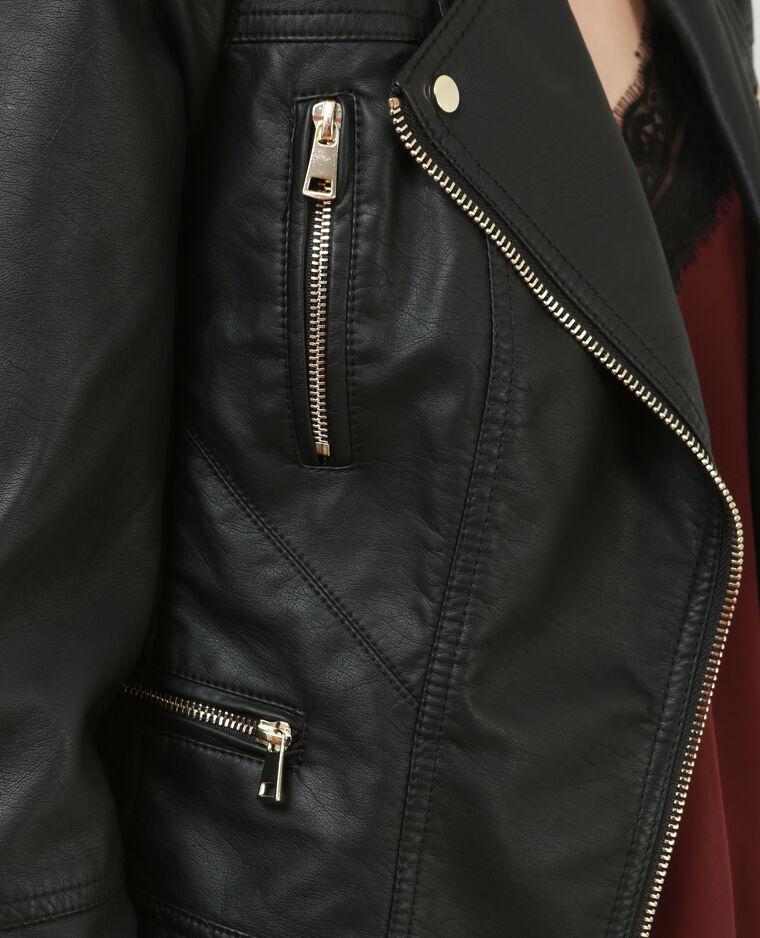 Veste biker noir