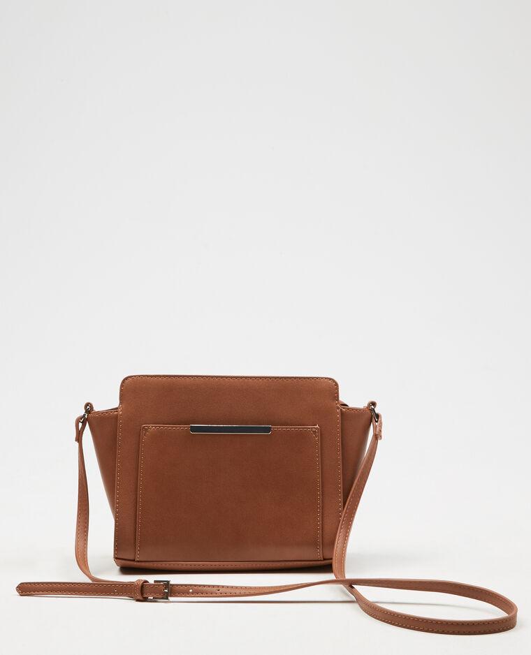 Kleine Tasche in Trapez-Form Orangebraun
