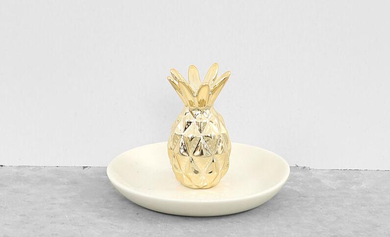 Kleine Ananas-Ablage Gold