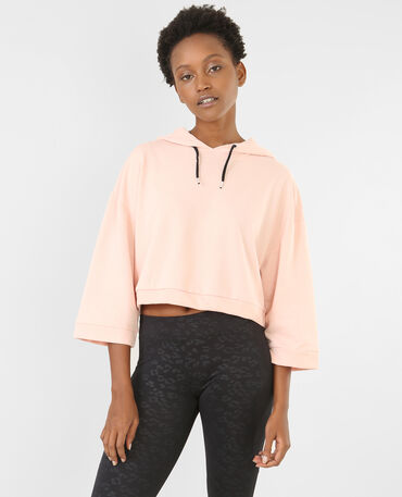 Sweat cropped sport rose
