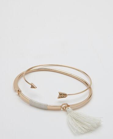 Lot de 2 bracelet doré