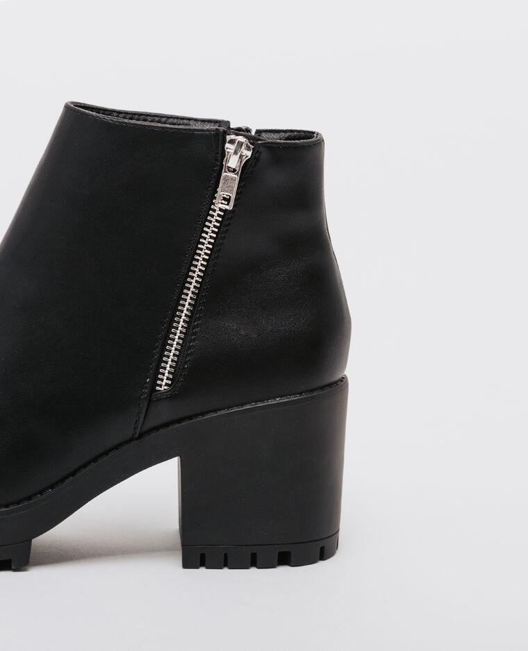 Boots à semelle crantée noir