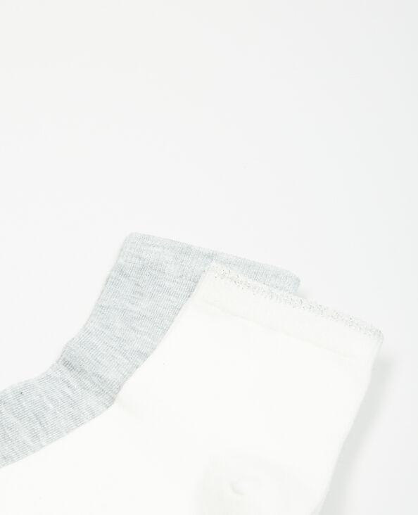 Paires de chaussettes lurex taupe