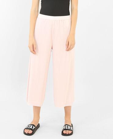 Falda culotte plisada rosa