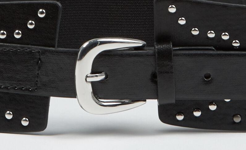 Cintura alta con borchie nero