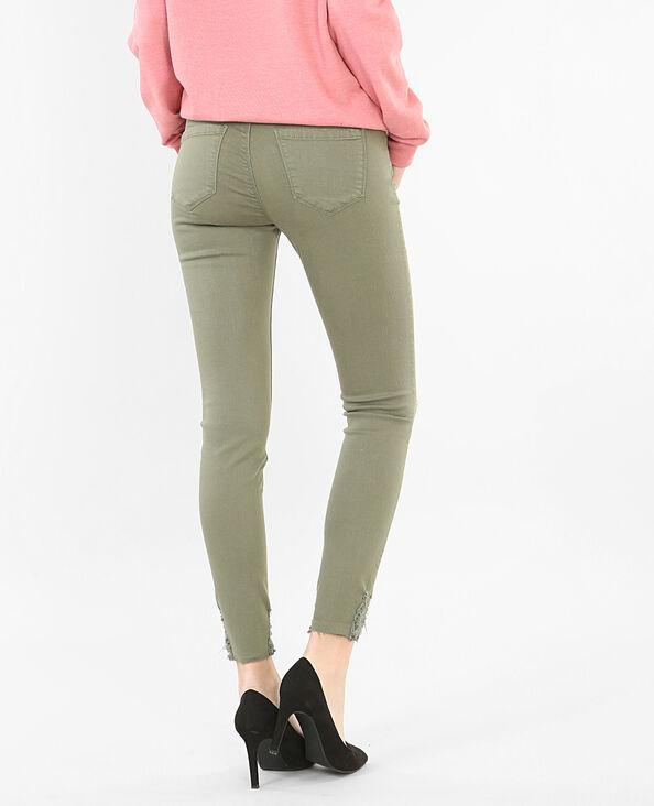 Pantalone skinny destroy verde