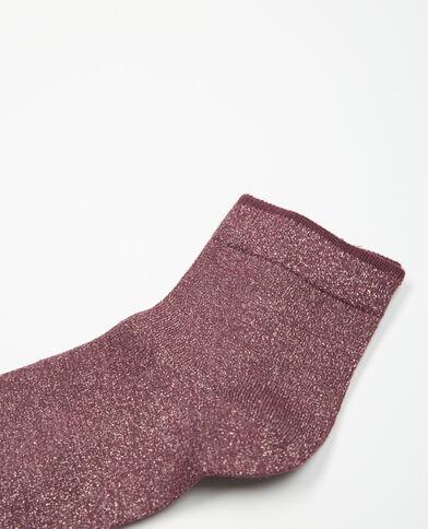 Paire de chaussettes lurex brique