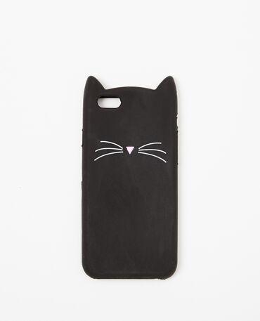 Coque chat compatible Iphone 6/6S noir