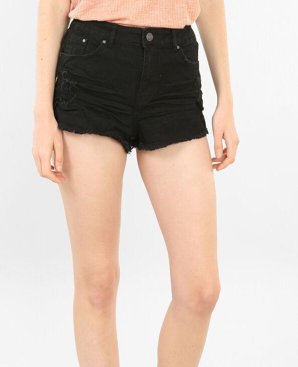 Jeans-Shorts mit Destroyed-Effekt Schwarz