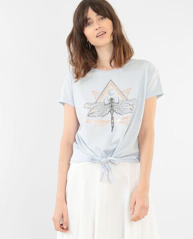 T-Shirt mit Schleife Blau