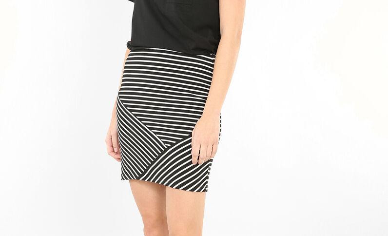 Minifalda a rayas negro