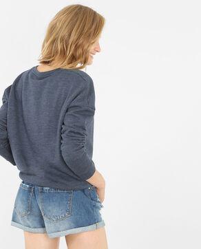 Sweatshirt mit Schriftzug Blau