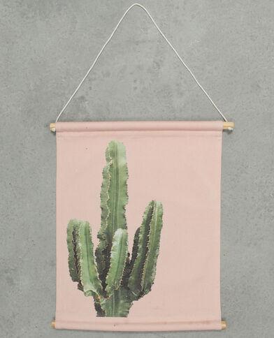 Muurpaneel met print roze