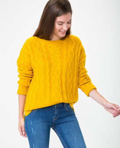 Pull ritorto giallo mostarda