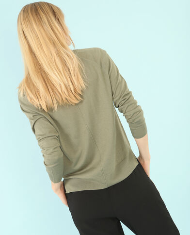 Lichte basic trui groen