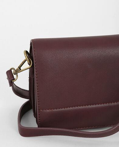 Boxy-Tasche Granatrot