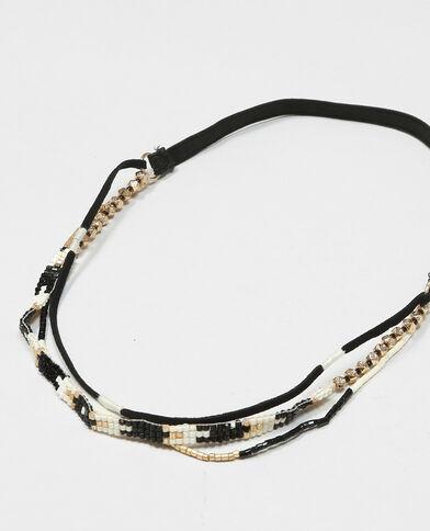 Headband multi rangs gris