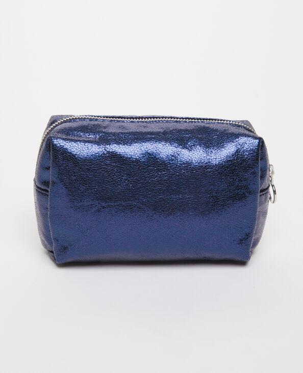 Trousse de maquillage bleu foncé