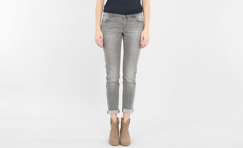 Pantalon skinny gris