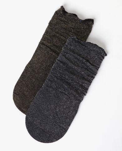 Lotto di calze lurex nero