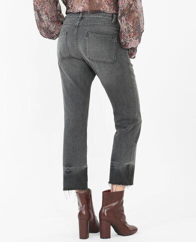 Jeans bootcut grigio delavato