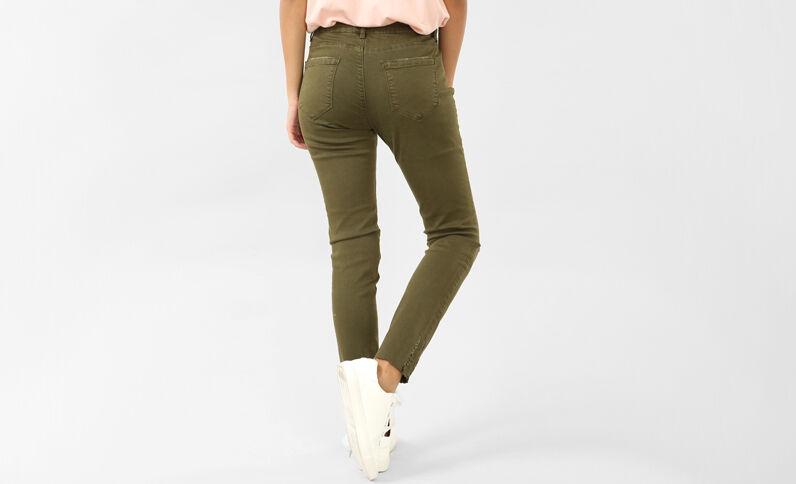 Pantalone skinny destroy kaki