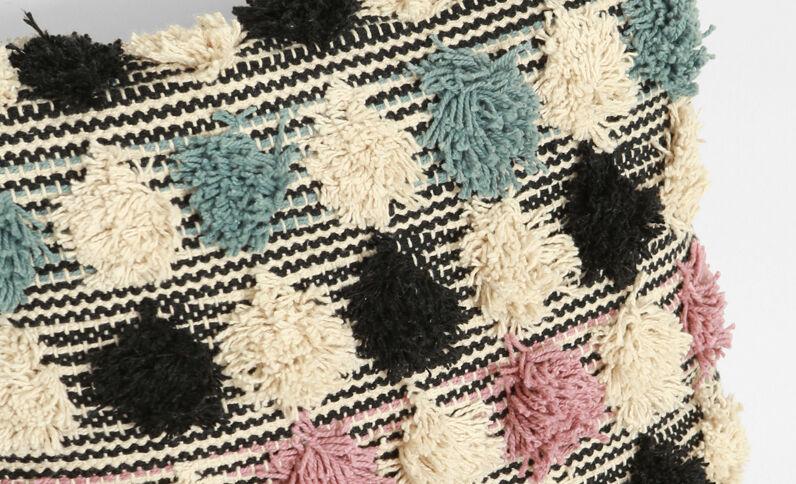 Meerkleurige Berberse kussenhoes Beige