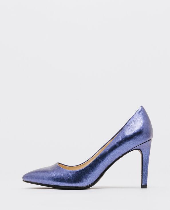 Zapatos de tacón shiny azul eléctrico