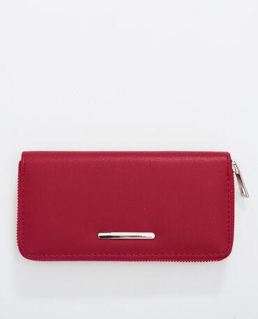 Geräumige Brieftasche Rot