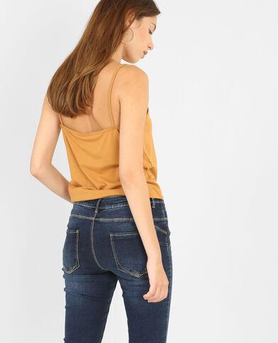 Camiseta de tirantes básica marrón