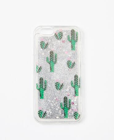 Coque cactus à paillettes compatible Iphone 6/6S vert