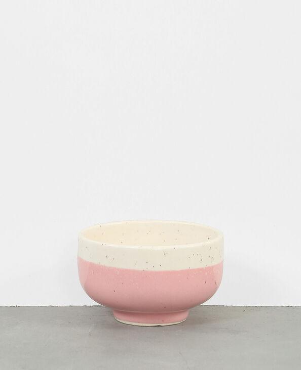 Gespikkeld bolvormig keramisch kommetje roze
