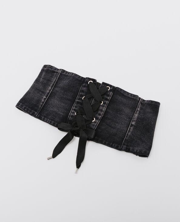 Korsettgürtel aus Jeansstoff Schwarz