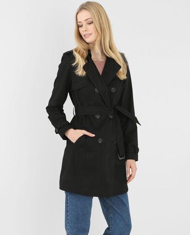 Damen-Trenchcoat Schwarz
