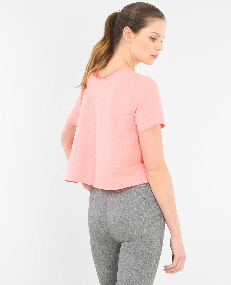 T-shirt cropped rose poudré
