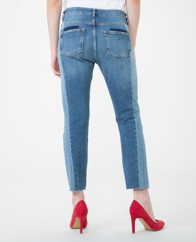 Jeans skinny bicolor azul vaquero