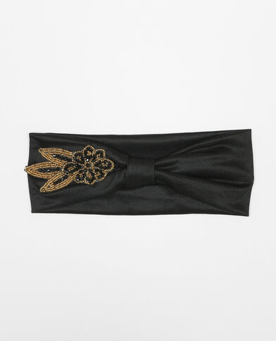 Headband bijoux noir