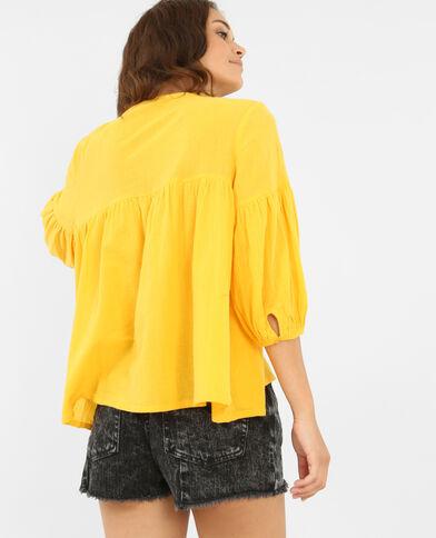 Blouse folk jaune