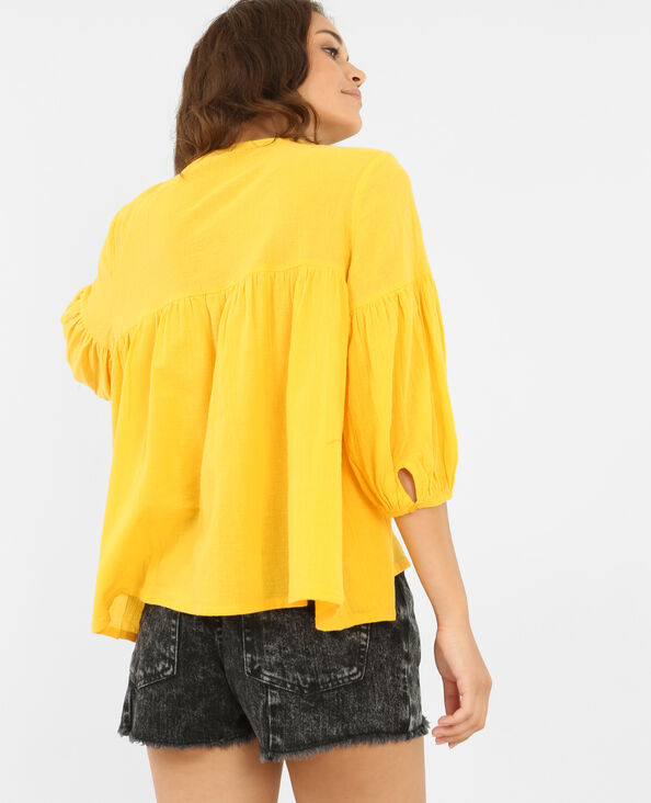 Blouse folk jaune