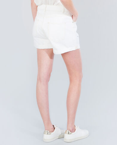 Shorts mit hoher Taille Weiß