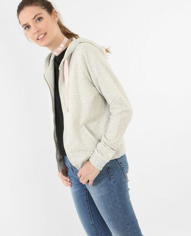 Sweatshirt mit Kapuze Grau meliert