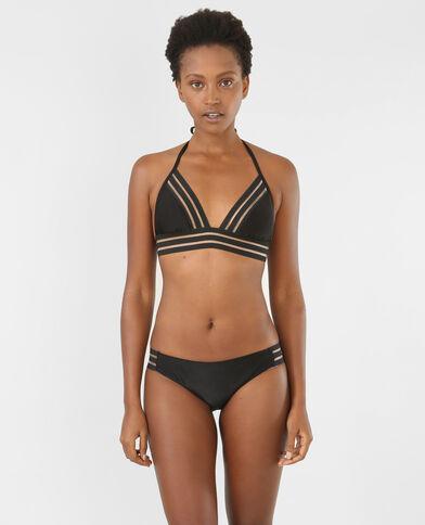Haut de bikini bande transparente noir