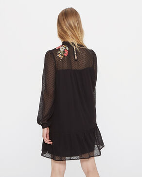 Vestido plumetis negro