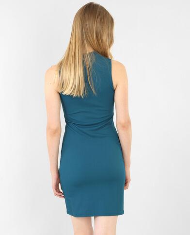 Strakke jurk eendenblauw