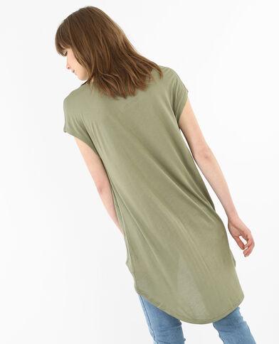 Camiseta larga verde