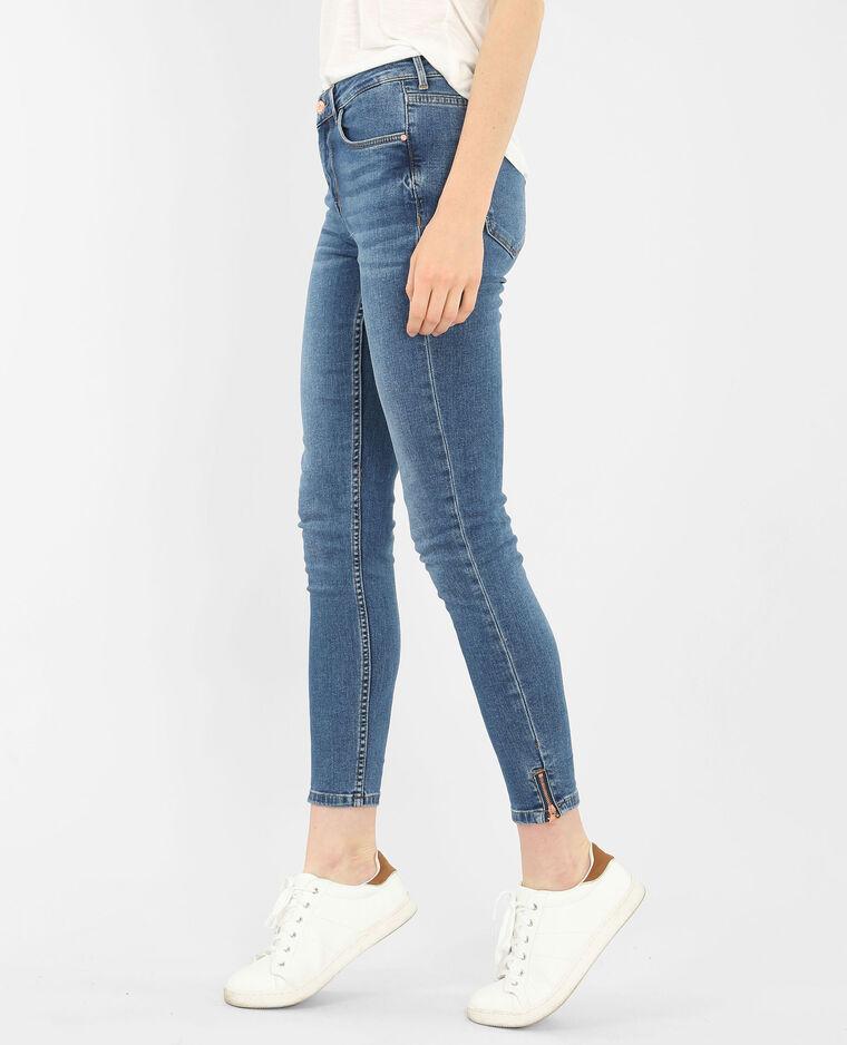 slim jeans mit rei verschluss denimblau 186092683a06 pimkie. Black Bedroom Furniture Sets. Home Design Ideas