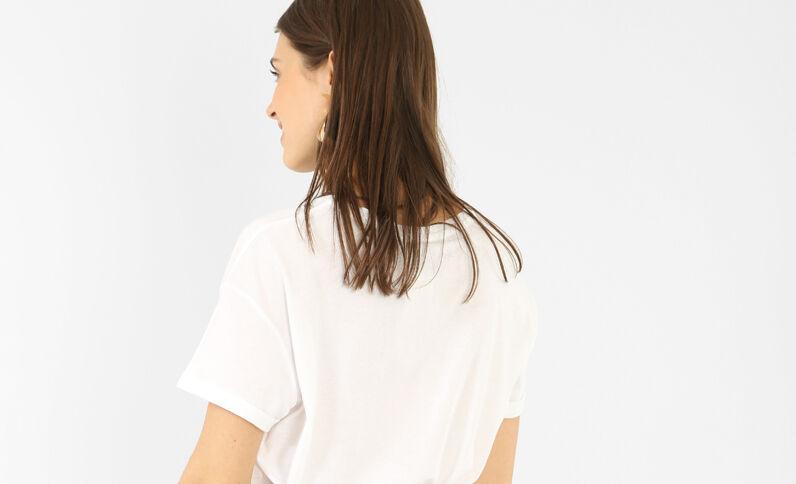 T-shirt met korte mouwen wit