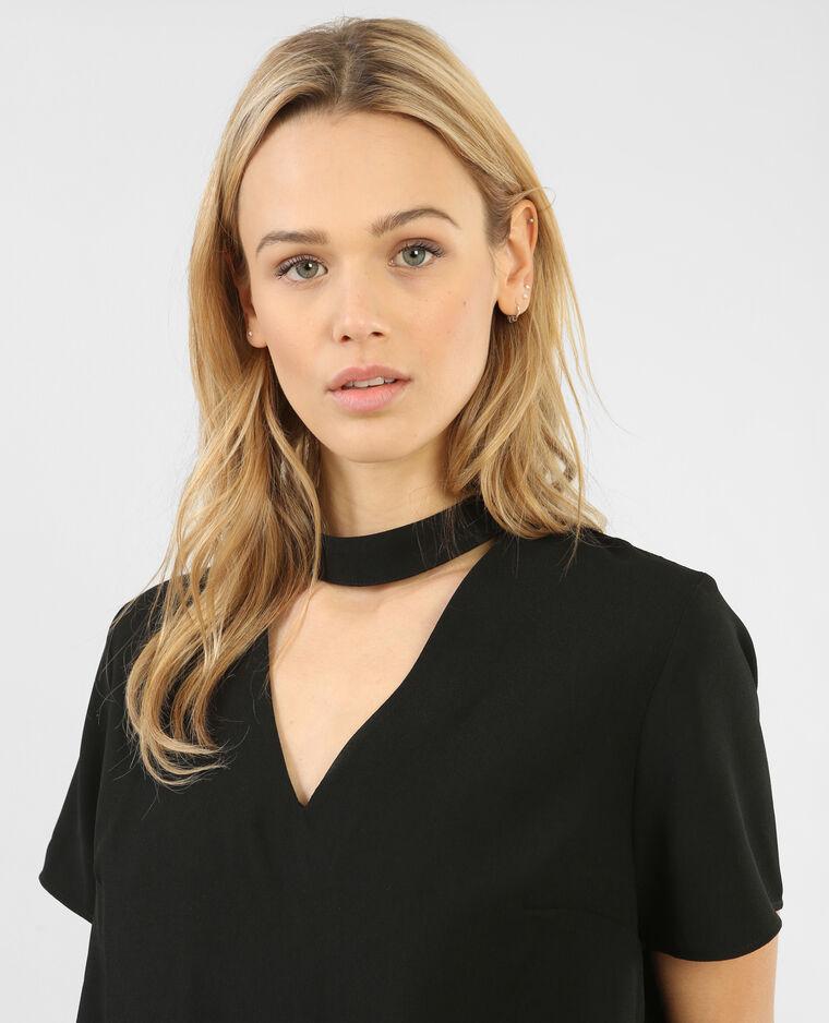 blouse col choker noir 561414899a08 pimkie. Black Bedroom Furniture Sets. Home Design Ideas